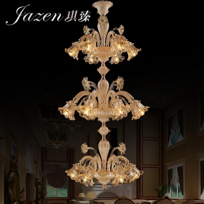 琪臻欧式现代奢华水晶吊灯创意客厅餐厅大堂灯_欧普