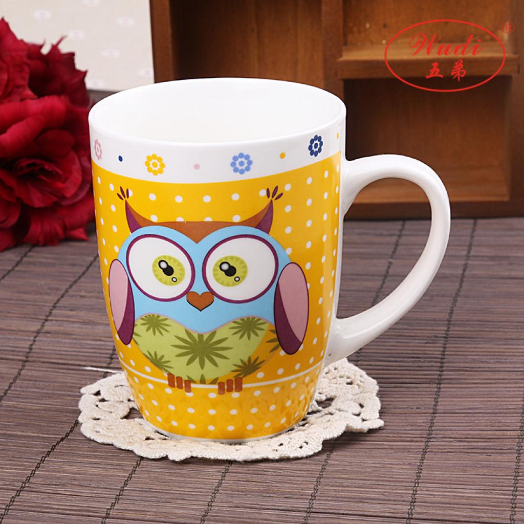 猫头鹰卡通陶瓷杯子可爱超大容量水杯ac-3001