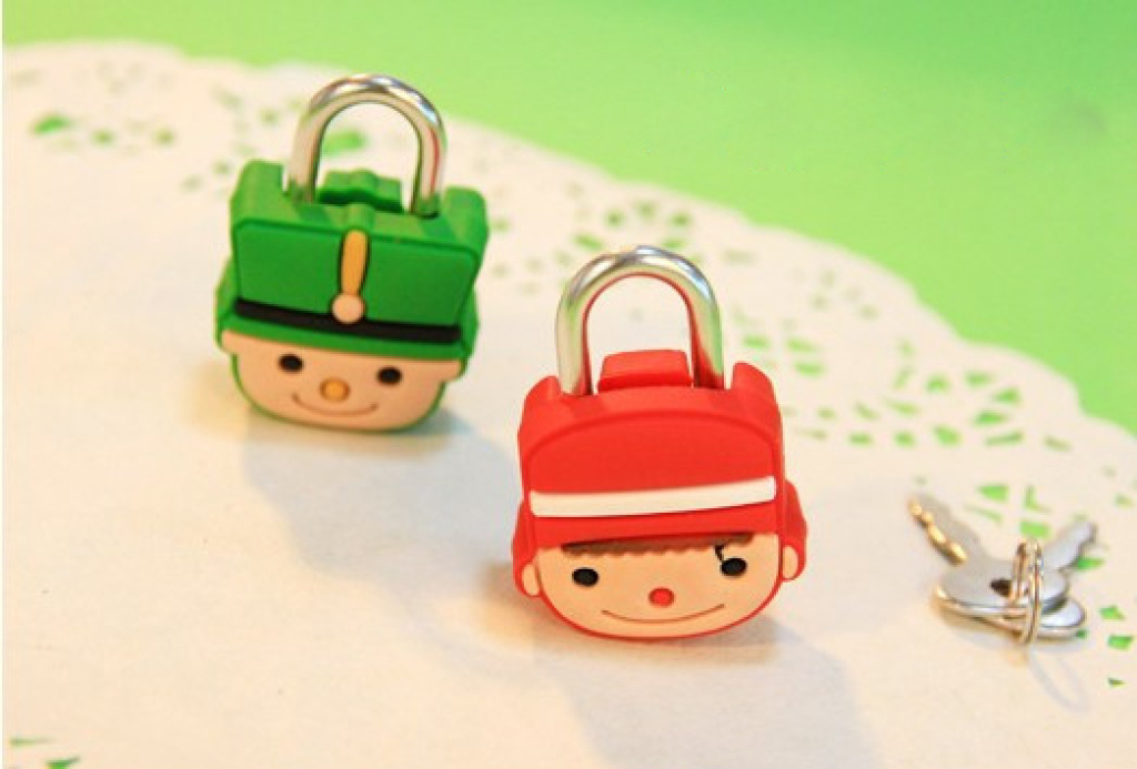 pvc小胡子可爱男童软胶锁