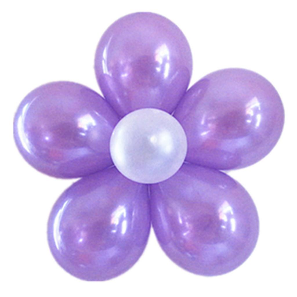 浪漫婚房布置5合一气球夹花朵造型梅花气球夹批发婚庆