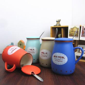巴克星辰 高档陶瓷杯 创意卡通奶瓶杯