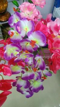 Artificial flowers, artificial flowers, 9 single head of Phalaenopsis