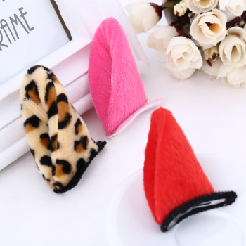 The new Christmas children cartoon stereo-clamping accessories cute hairpin to clip manufacturers direct sales.