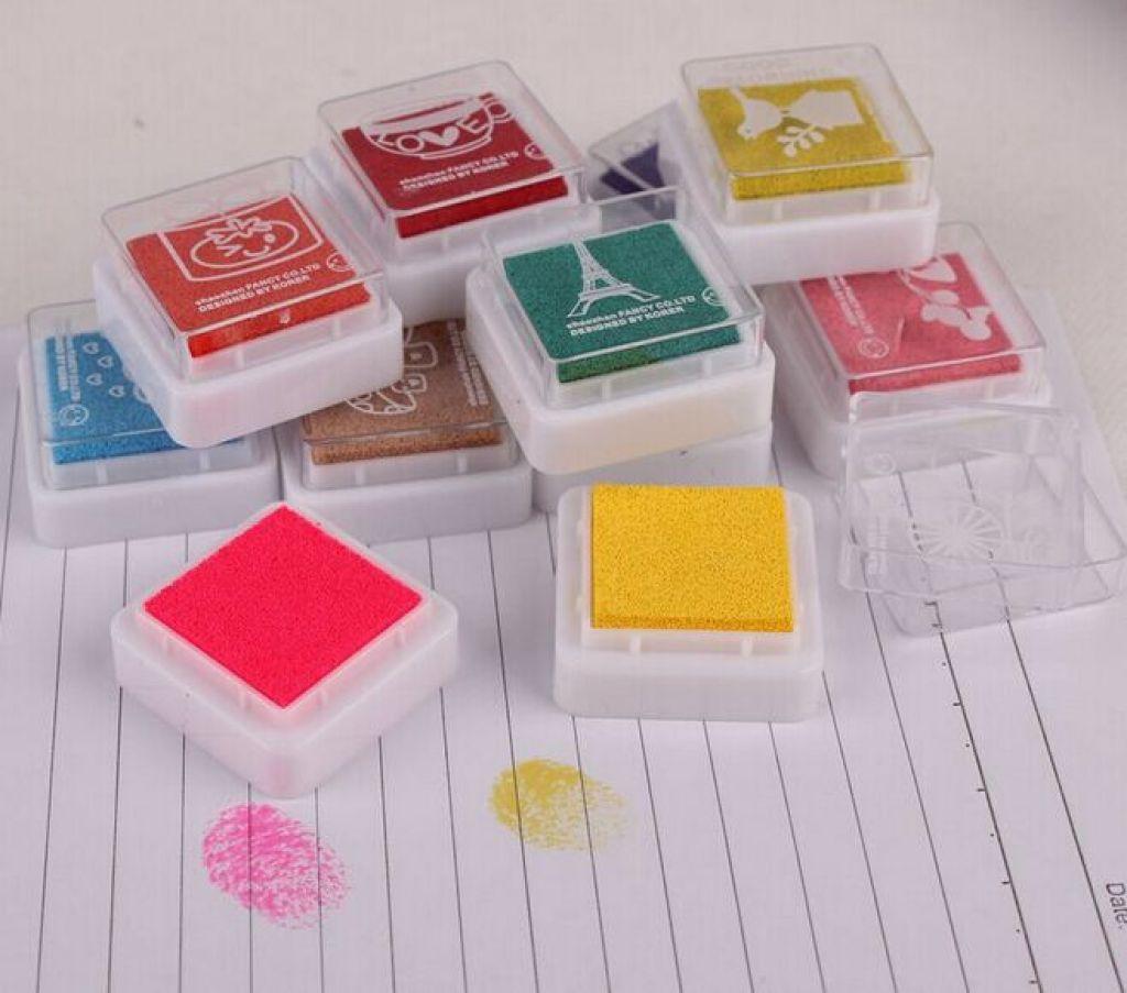 印泥 手指画印泥 彩色四色印尼
