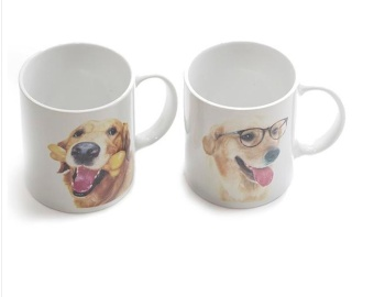 小动物简约陶瓷杯早餐个性马克杯可爱创意牛奶咖啡水杯子
