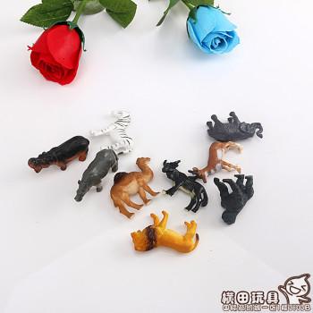 The animal model of homemade wild animal ornaments scene of children's plastic toys toy doll