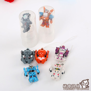 Toy doll robot toy trumpet Transformers pendant Mini children's toys inventory model
