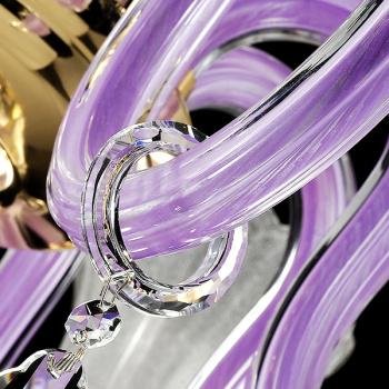 琪臻欧式奢华水晶吊灯紫色餐厅浪漫婚房灯