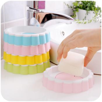 创意时尚爱心形双层沥水香皂盒可爱卡通肥皂盒肥皂架
