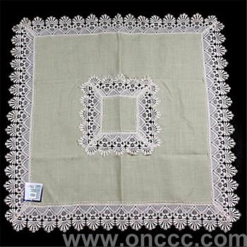 正方形镂空花边桌布台布