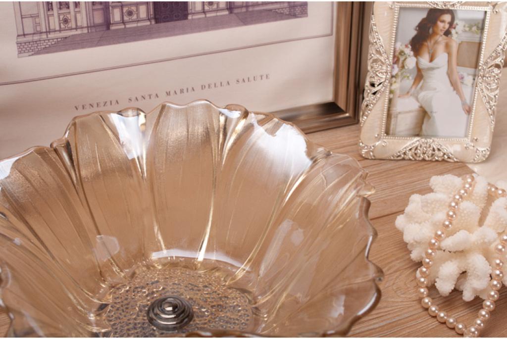欧式客厅茶几家居软装饰品样板房间水晶玻璃干