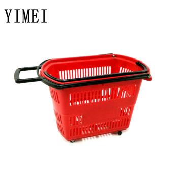 Supermarket plastic shopping basket hand plastic shopping basket