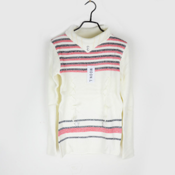 A women's cashmere knitted sweater collar stock