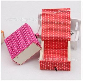 小清新简约创意竹帘杂物盒收纳盒珠宝盒手工皂盒可