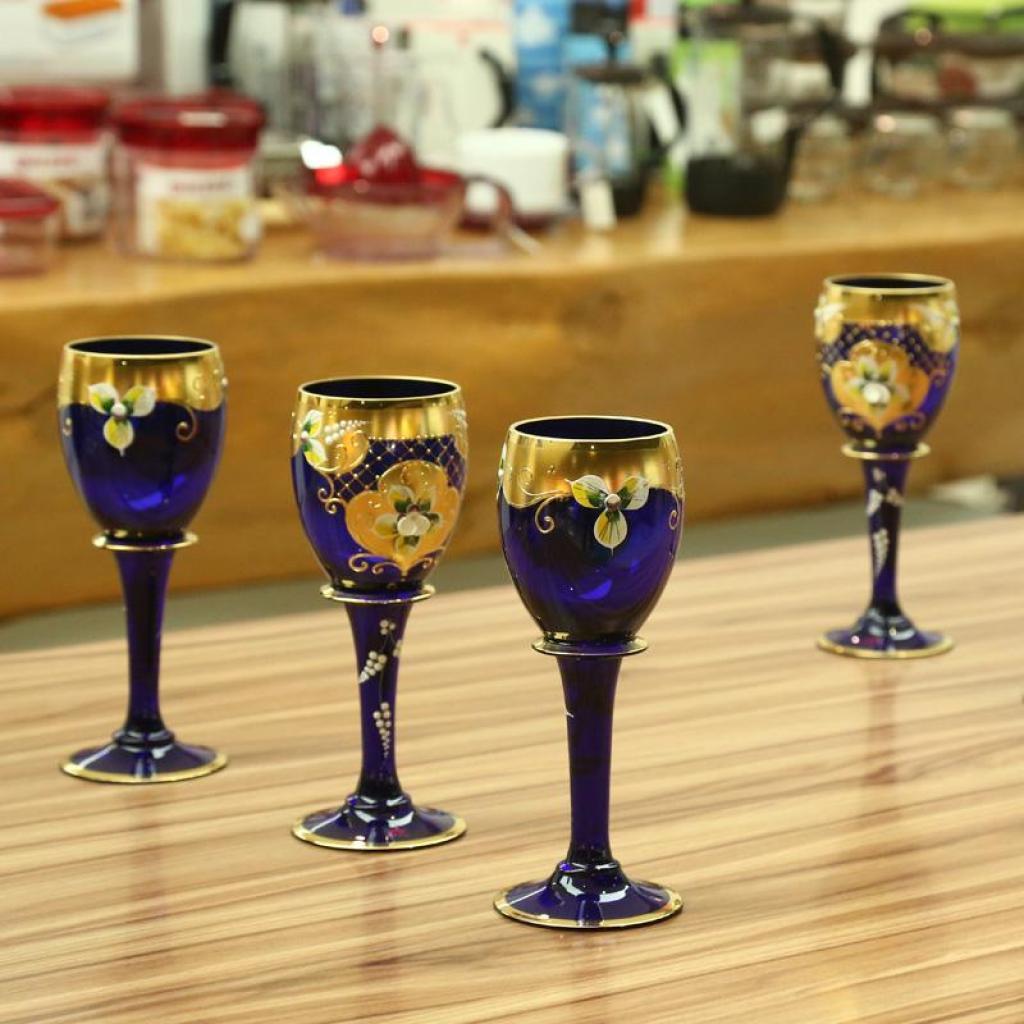 捷克风格水晶酒具 欧式水晶酒杯
