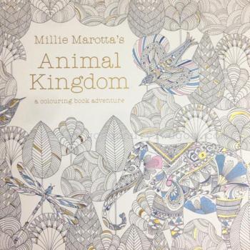 动物王国烫金英文手绘填色本中文胶装