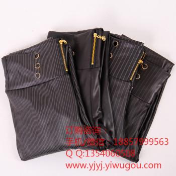 New leather leggings slimming pants pants nine high waist pants