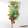 The peach fruit leaf flower Home Furnishing high-grade decorative flower flowers hanging plants simulation props