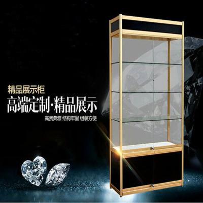 Shelf display cabinet Glass Showcase Display Cabinet gift jewelry counter