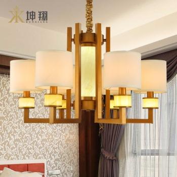 坤翔新中式鐵藝吊燈客廳餐廳燈具_歐普照明_瀘州西南