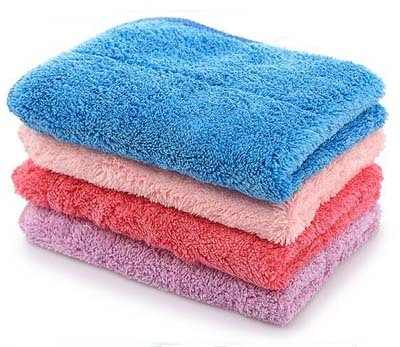 Wholesale kitchen towel microfiber towel hanging water oil washing cleaning cloth cloth coral fleece