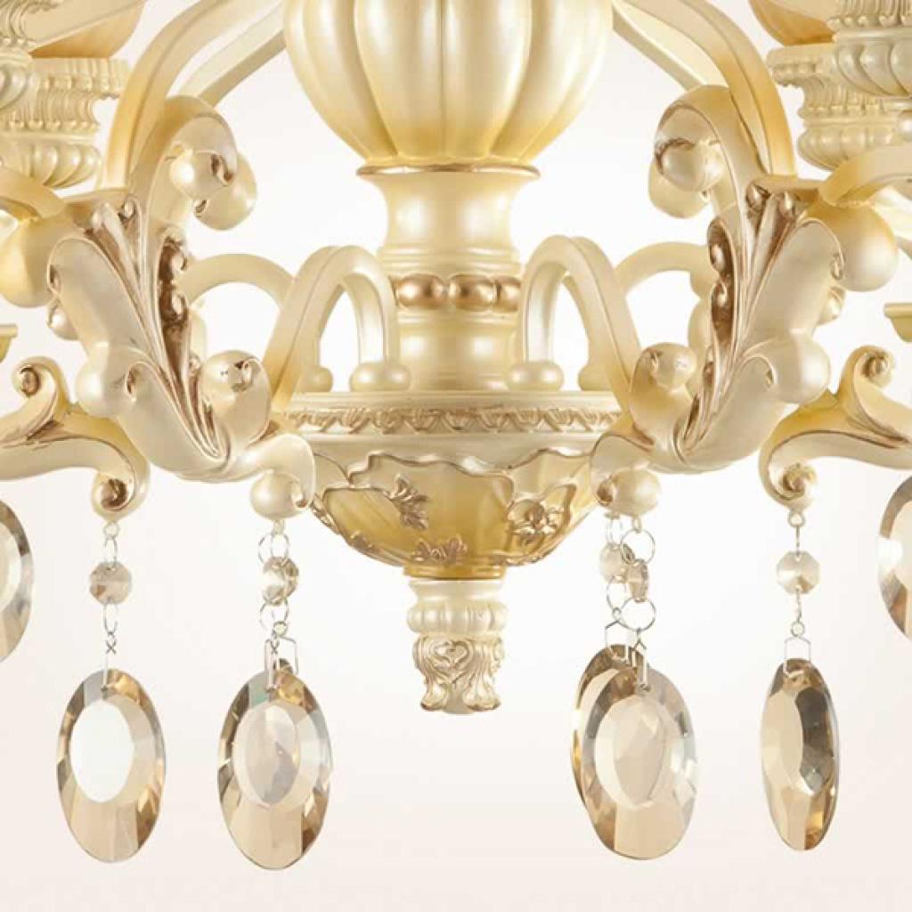 宙斯欧式树脂水晶吊灯大气客厅餐厅卧室灯