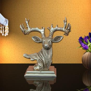 创意树脂工艺品家居摆件鹿头装饰品