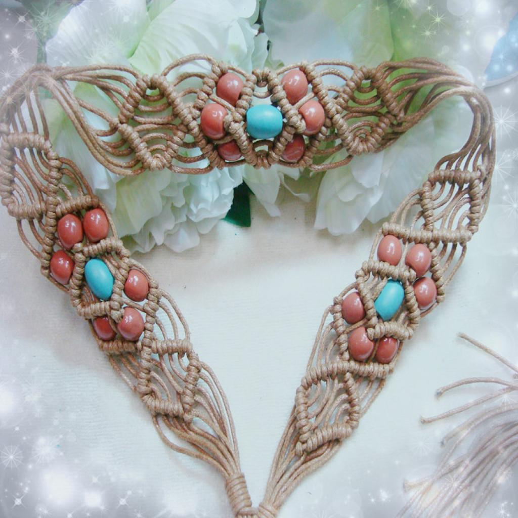 手工编织腰带流苏波西米亚风复古蜡绳全女士编织腰带民族风编织带