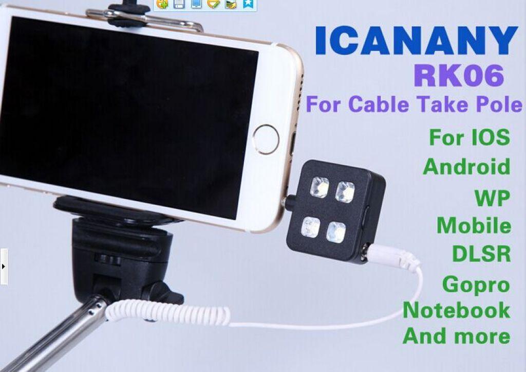 带线自拍杆专用补光灯 线控补光灯 手机外置led闪光灯