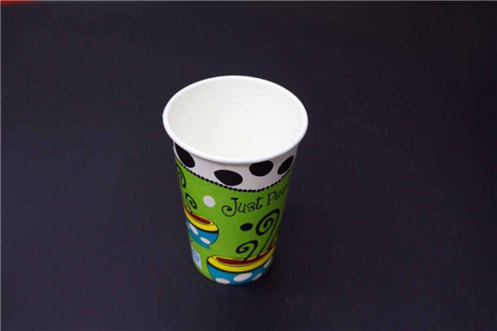普12盎司咖啡图案纸杯图片