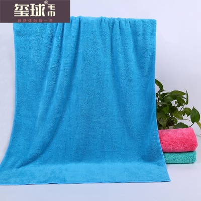 Absorbent towel color coral velvet gift set three piece