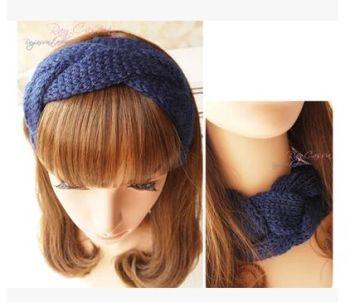 针织毛线头带麻花发箍发带头套帽子优质版特价辫子