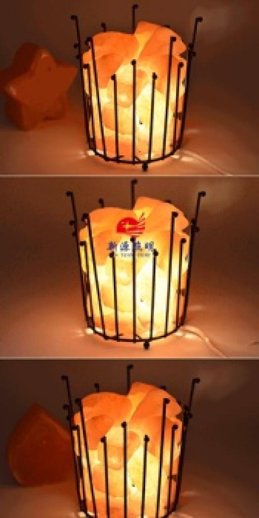 浪漫温馨卧室床头灯 水晶盐灯欧式创意台灯儿童房间