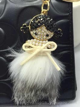 Cute girl Keychain fashion handbags accessories gifts crafts homegrown car