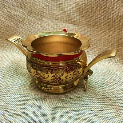 Double lace Earrings copper incense censer