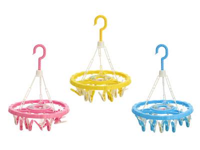 Yuan Zhen new drying rack airer small round 18 pantyhose fashion clip plastic drying rack