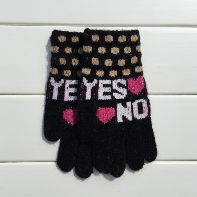 2015 winter fashion ladies all of the rabbit wool blended knitted fabric knitted gloves