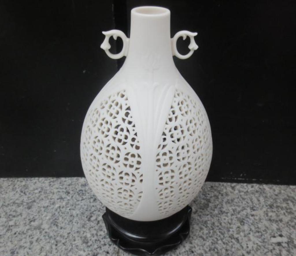 多款式德化陶瓷工艺品瓷器雕刻艺术品陈设花瓶曾玉真