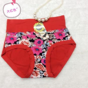 Flower waist underwear underwear modal collagen