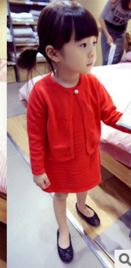 定制 儿童开衫 连衣裙中小女童套装裙批发