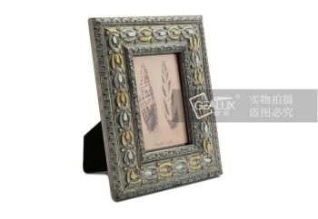 巴洛克雕花镶钻复古木质相框