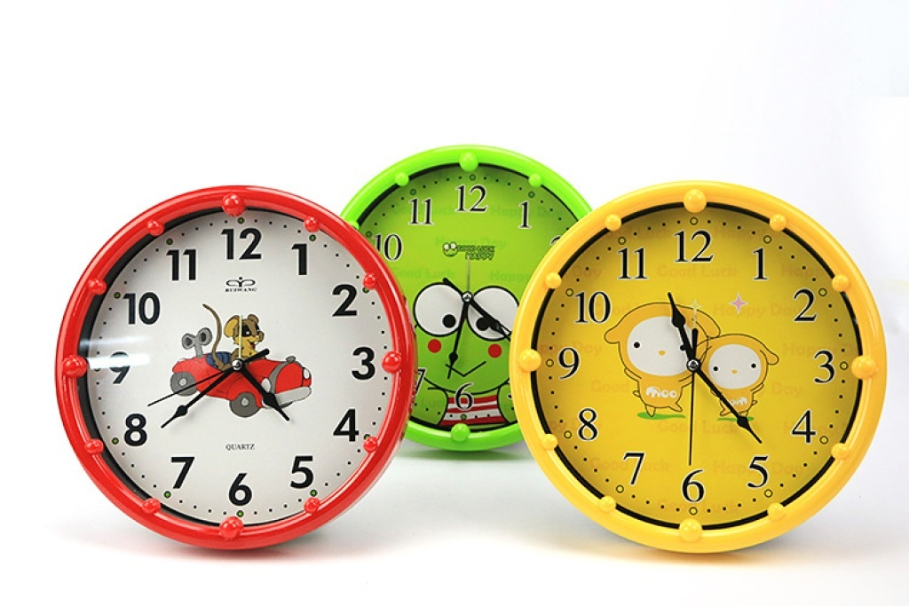 可爱卡通圆形闹钟 小挂钟表闹铃