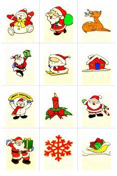 Christmas Santa Claus Christmas tree Christmas Snowman decorative glass stickers stickers stickers