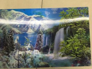 美丽乡村3d手绘墙画油画图片