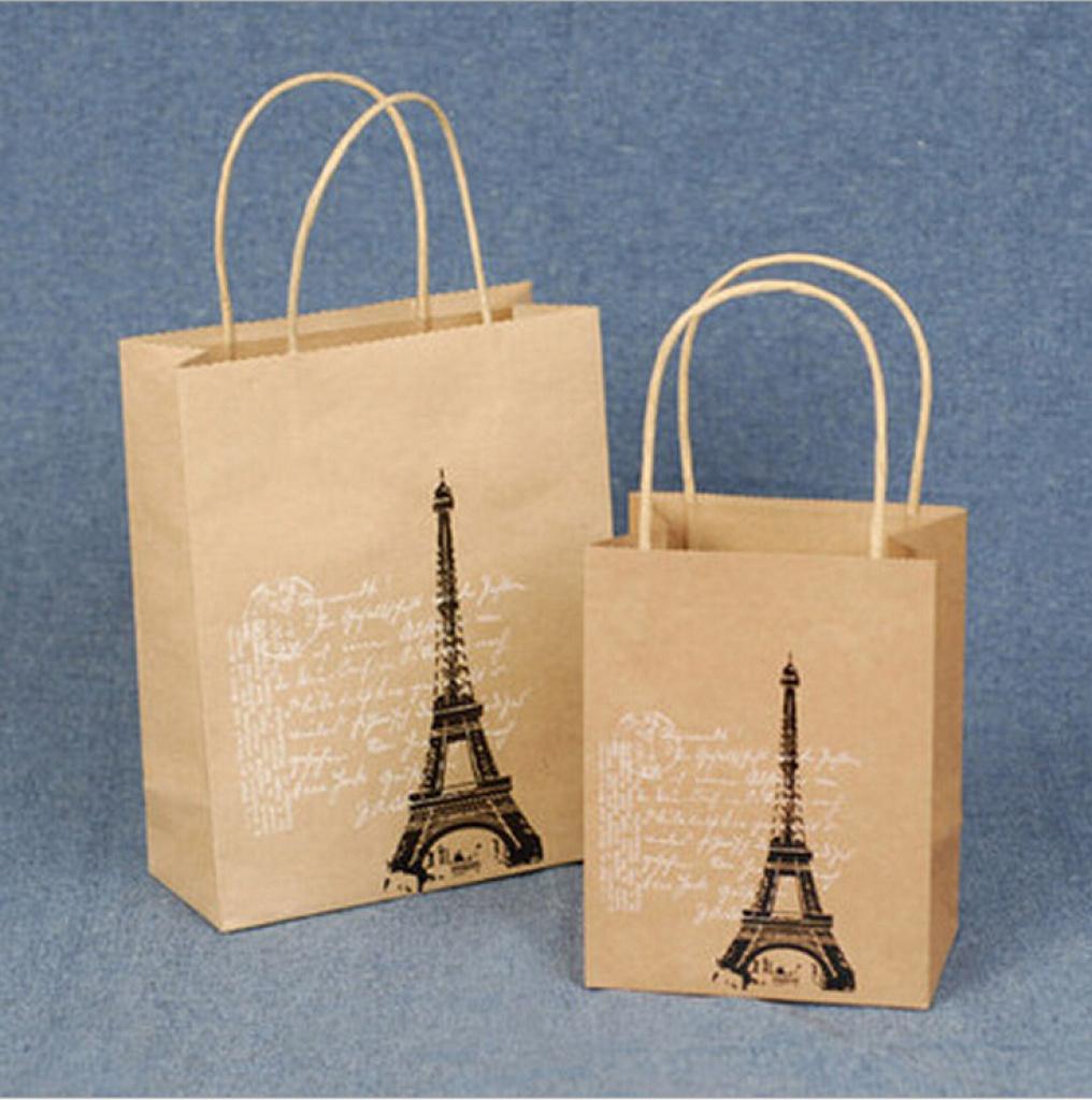 复古唯美 牛皮纸手提袋 纸袋礼品袋 6款选 小号