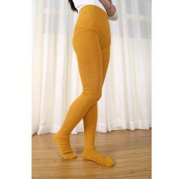 Rabbit cashmere stockings Hemp flowers leggings stripe candy colored pants autumn socks 802