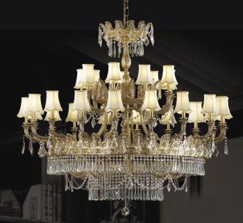 欧式古典奢华水晶全铜吊灯客厅餐厅会所酒店大堂吊灯