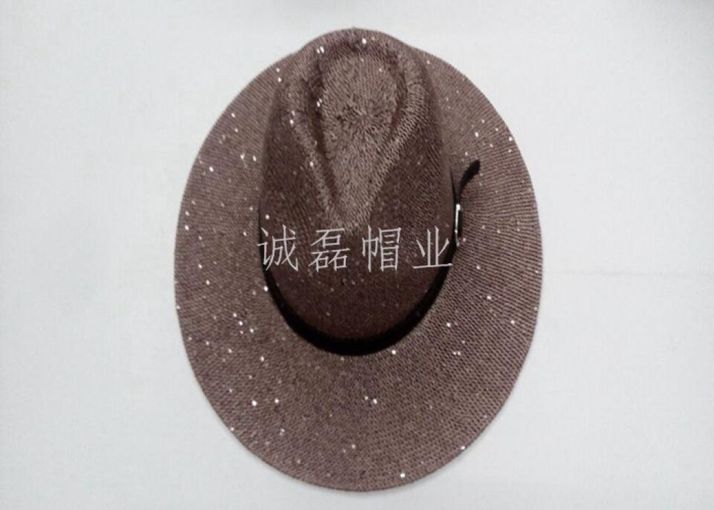 スパンコールの帽子の帽子の男性屋外のビーチの女性のファッションショートハット型の帽子