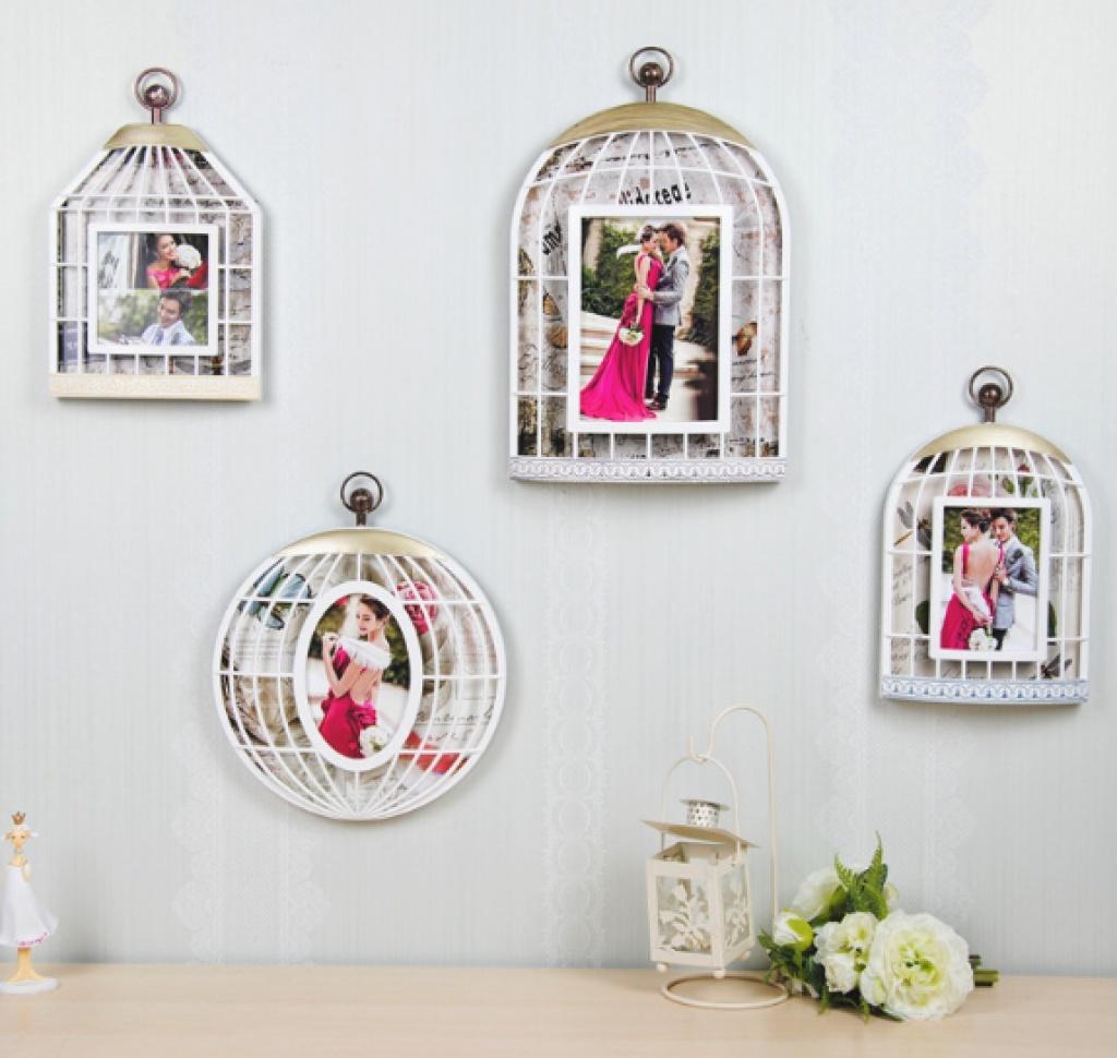 欧式复古鸟笼个性相框照片墙7寸组合挂墙影楼结婚照