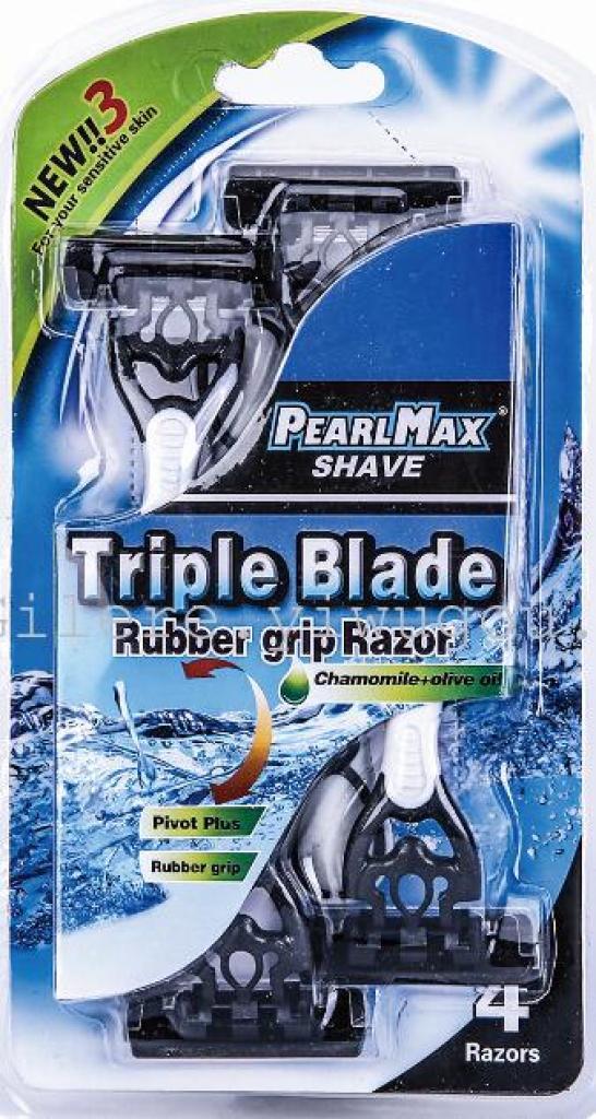 厂家直销 男女通用4层不锈钢刀片手动剃须刀 可混批 可定制